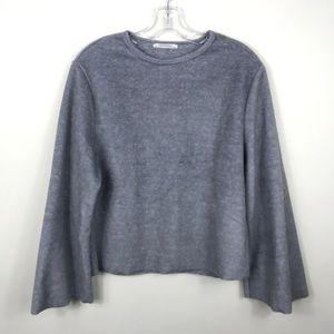 Zara Fuzzy Gray Sweater Small
